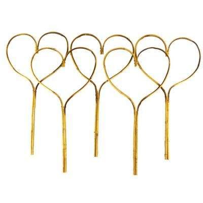 24 in  Bamboo Heart Stake (5-Pack)