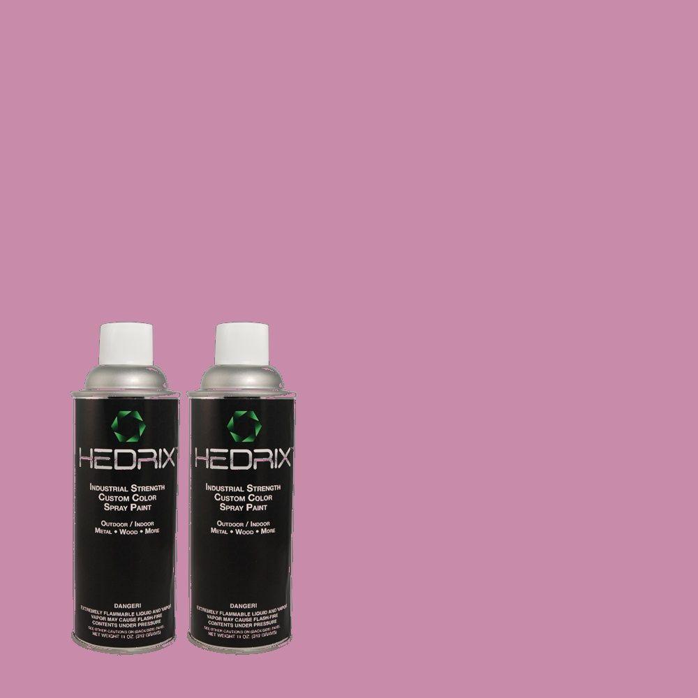 Hedrix 11 oz. Match of MQ4-60 Joie De Vivre Semi-Gloss Custom Spray Paint (8-Pack)