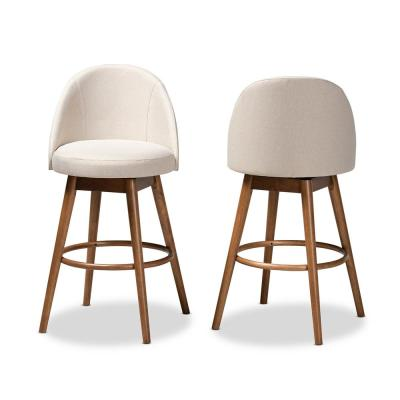 Carra 41 in. Beige Bar Stool (Set of 2)
