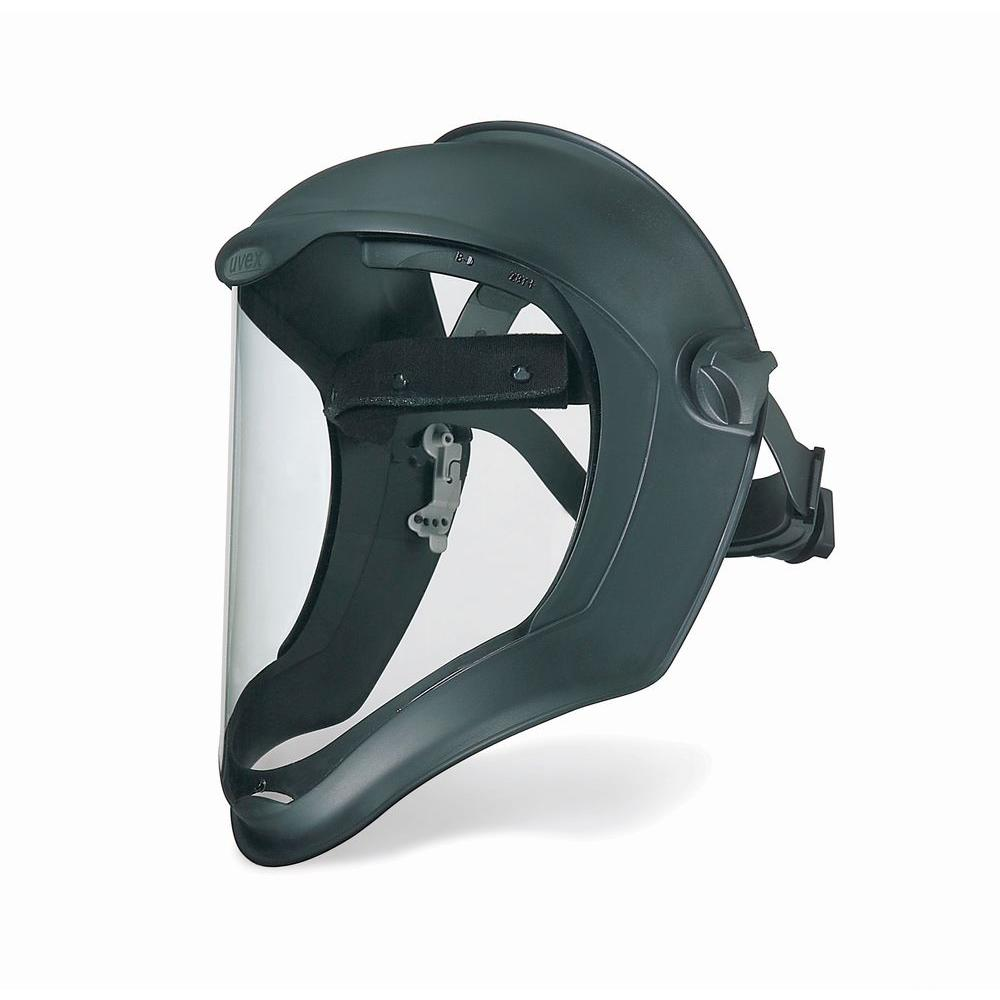 Uvex Bionic Black Matte Faceshield with Clear PC Uncoated Visor