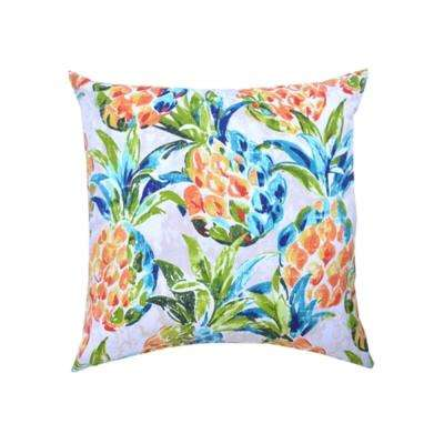 Pineapples Square Outdoor Throw Pillows (2-Pack)