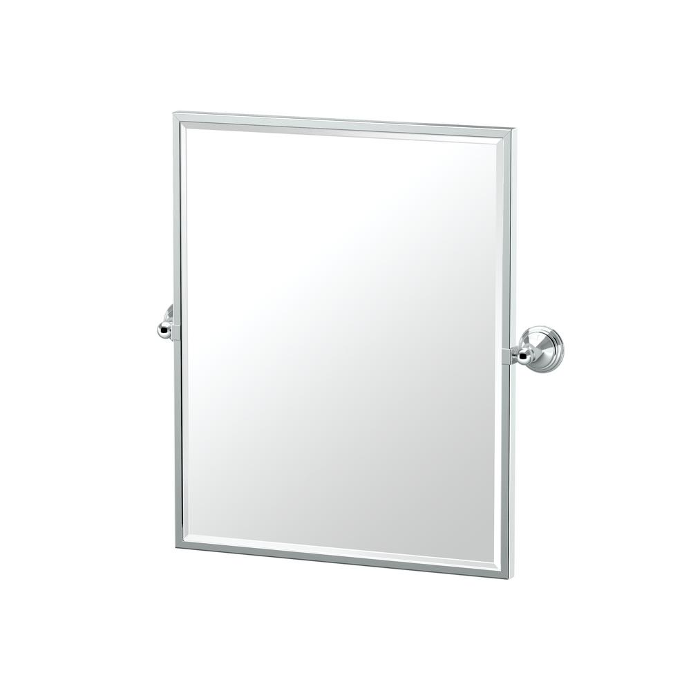 Gatco Charlotte 25 in. x 25 in. Single Framed Small Rectangle Mirror in Chrome