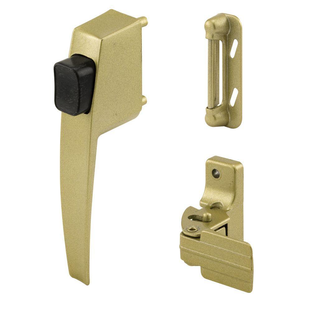 Prime-Line Push Button Latch Set, Gold