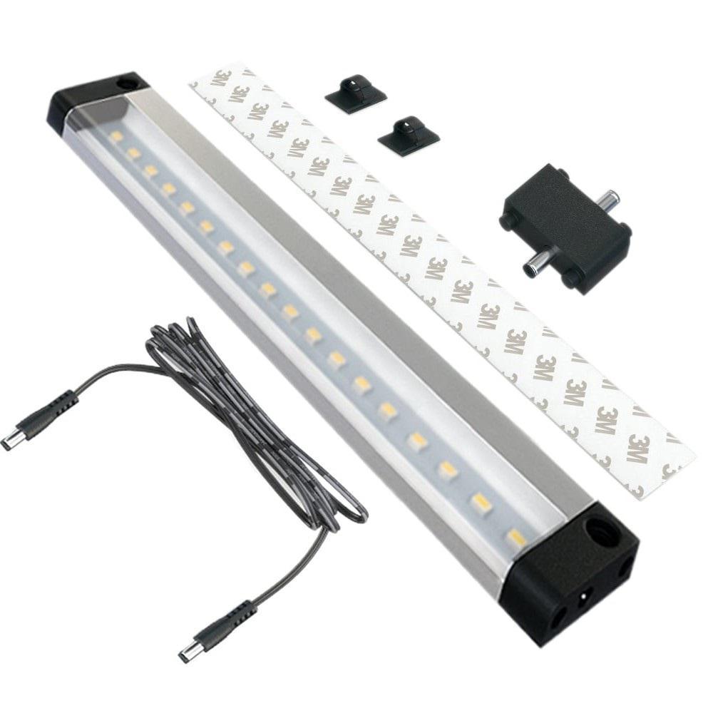 7 in. LED 6000K Black Under Cabinet Light NO Sensor (No Power Supply Included)