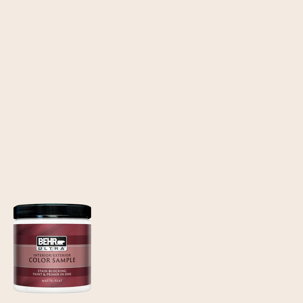 new style 6dc00 a543f BEHR ULTRA 8 oz. #W-F-210 Nude Matte Interior/Exterior Paint and Primer in  One Sample