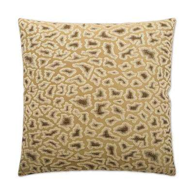 Cabenet Oyster Feather Down 24 in. x 24 in. Standard Decorative Throw Pillow