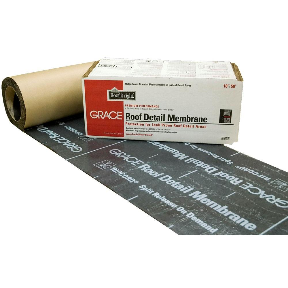 18 in. x 50 ft. Asphalt Roll Roofing Detail Membrane