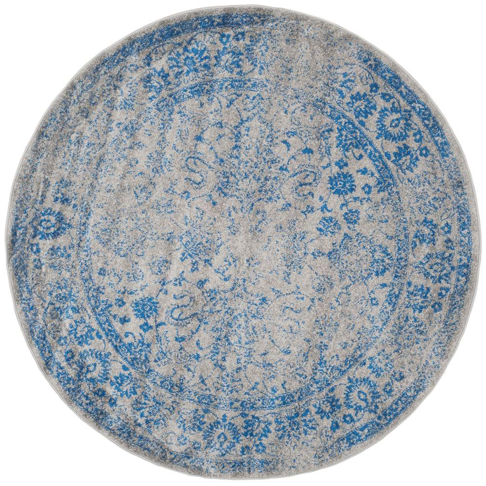 Blue And White Circle Rug: Safavieh Adirondack Grey/Blue 6 Ft. X 6 Ft. Round Area Rug