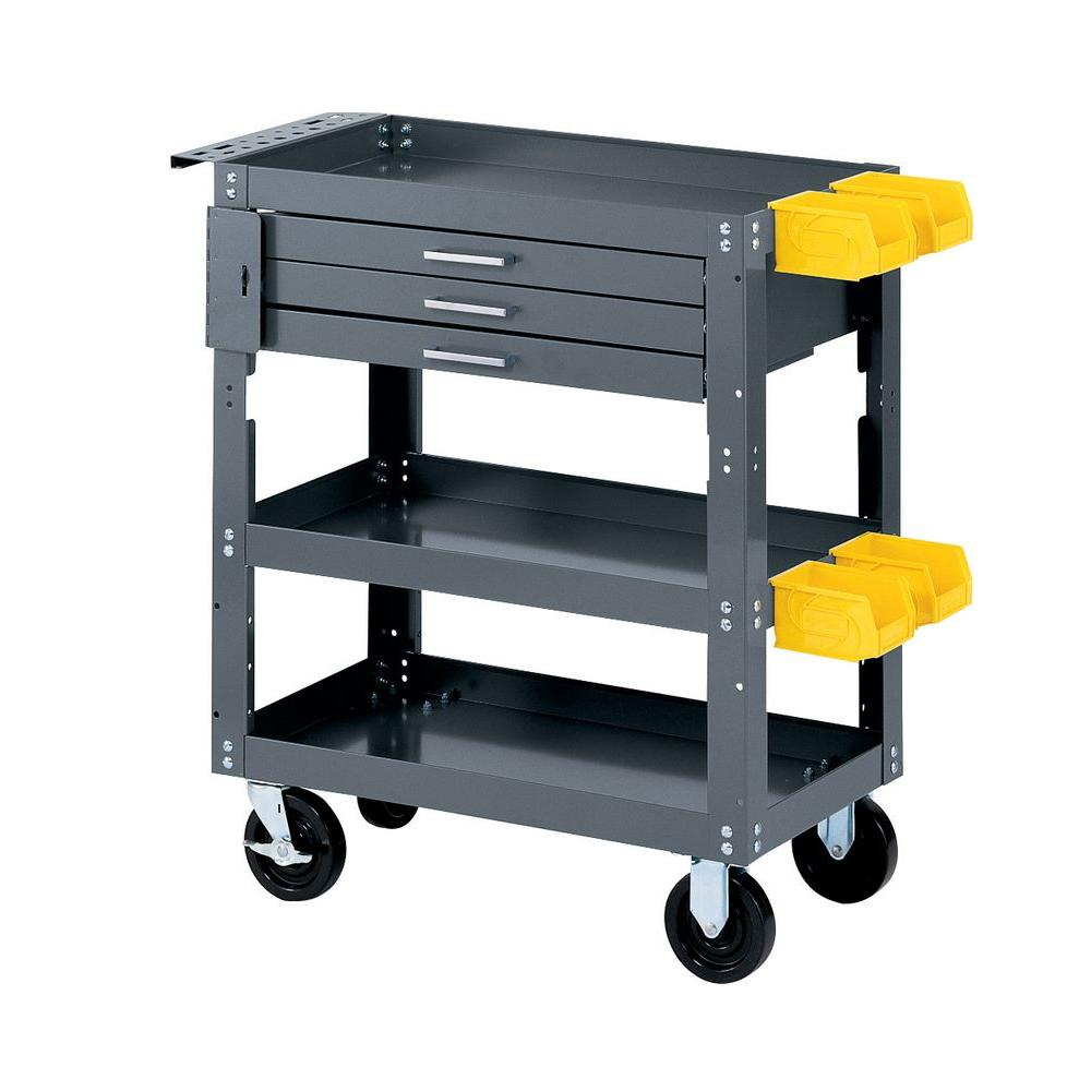 Edsal 28 In W X 16 In D Mobile Workbench With Storage Scmb20048 The Home Depot