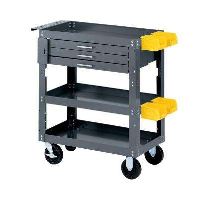 28 in. W x 16 in. D Mobile Workbench with Storage