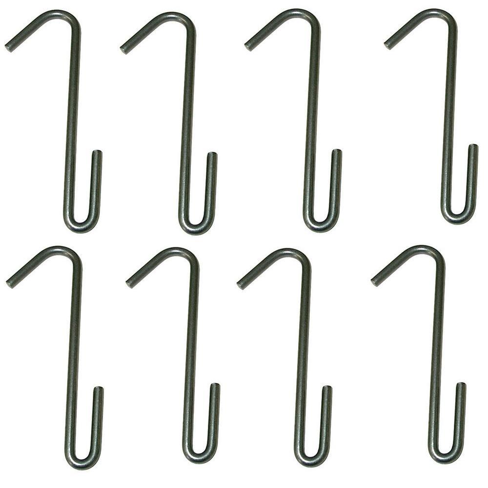 Pot Hooks Steel Gray Hammertone (8 Pack)