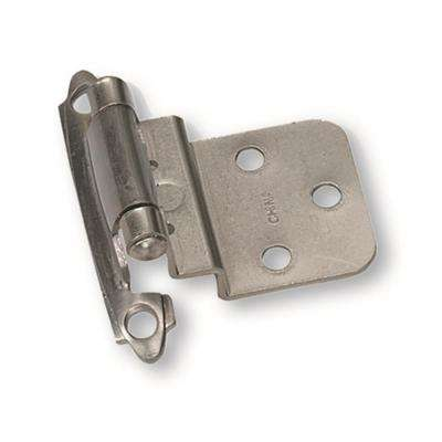 Inset Satin Chrome 3/8 in. Self-Closing Hinge (1-Pair)