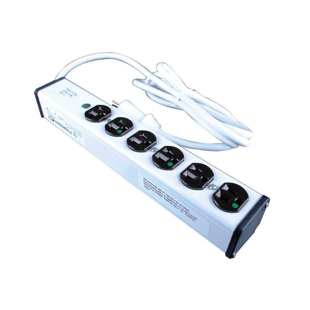 6-Outlet 15 Amp Medical Grade Power Strip, 6 ft. Cord