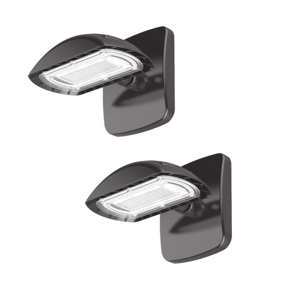 High-Output 28-Watt LED Wall Pack with 3000 Lumens, Outdoor Security Lighting (2-Pack)