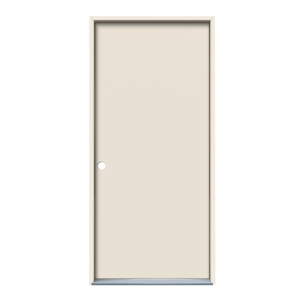36 in. x 80 in. Flush Primed Composite Wood Prehung Right-Hand