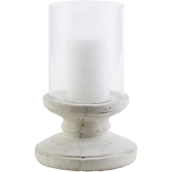 Artistic Weavers Tiberium 9.5 in. White Ceramic Candle Holder S00151052224