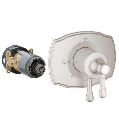 GrohFlex Authentic 2-Handle Dual Function Pressure Balance Valve Trim Kit in Brushed Nickel (Valve Sold Separately)