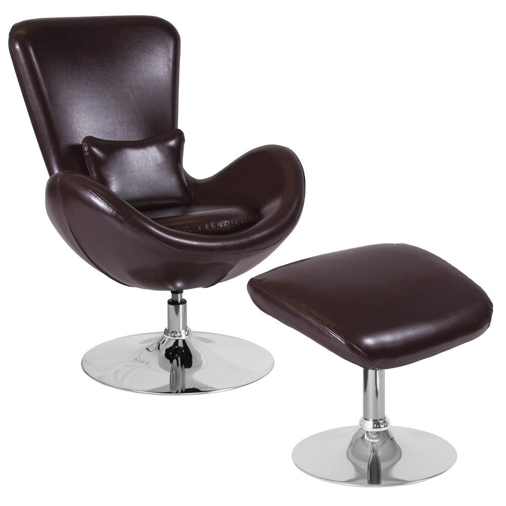 Incredible Brown Leather Chair And Ottoman Set Gmtry Best Dining Table And Chair Ideas Images Gmtryco