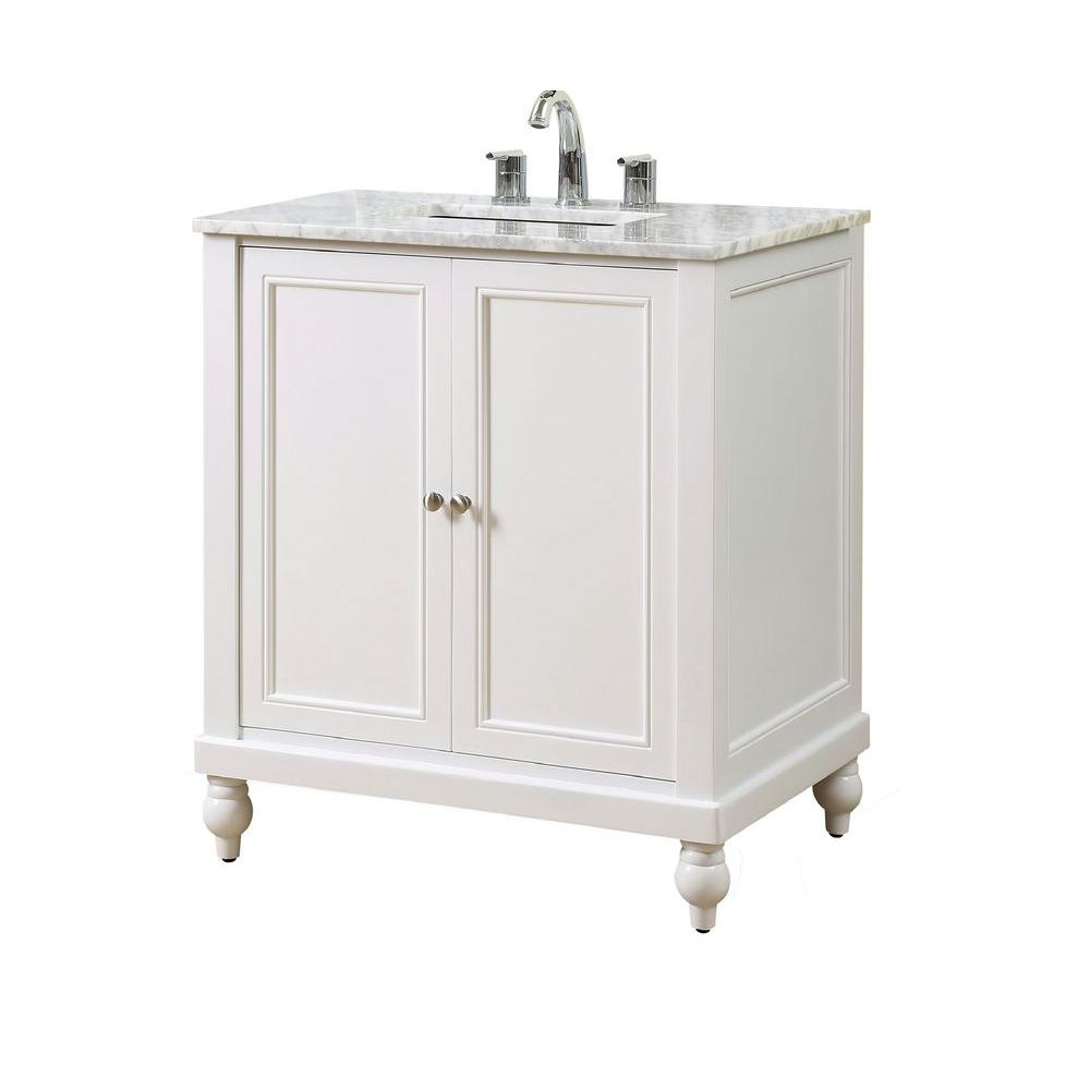 classic white bathroom vanity direct vanity sink classic 32 in vanity in pearl white 17755