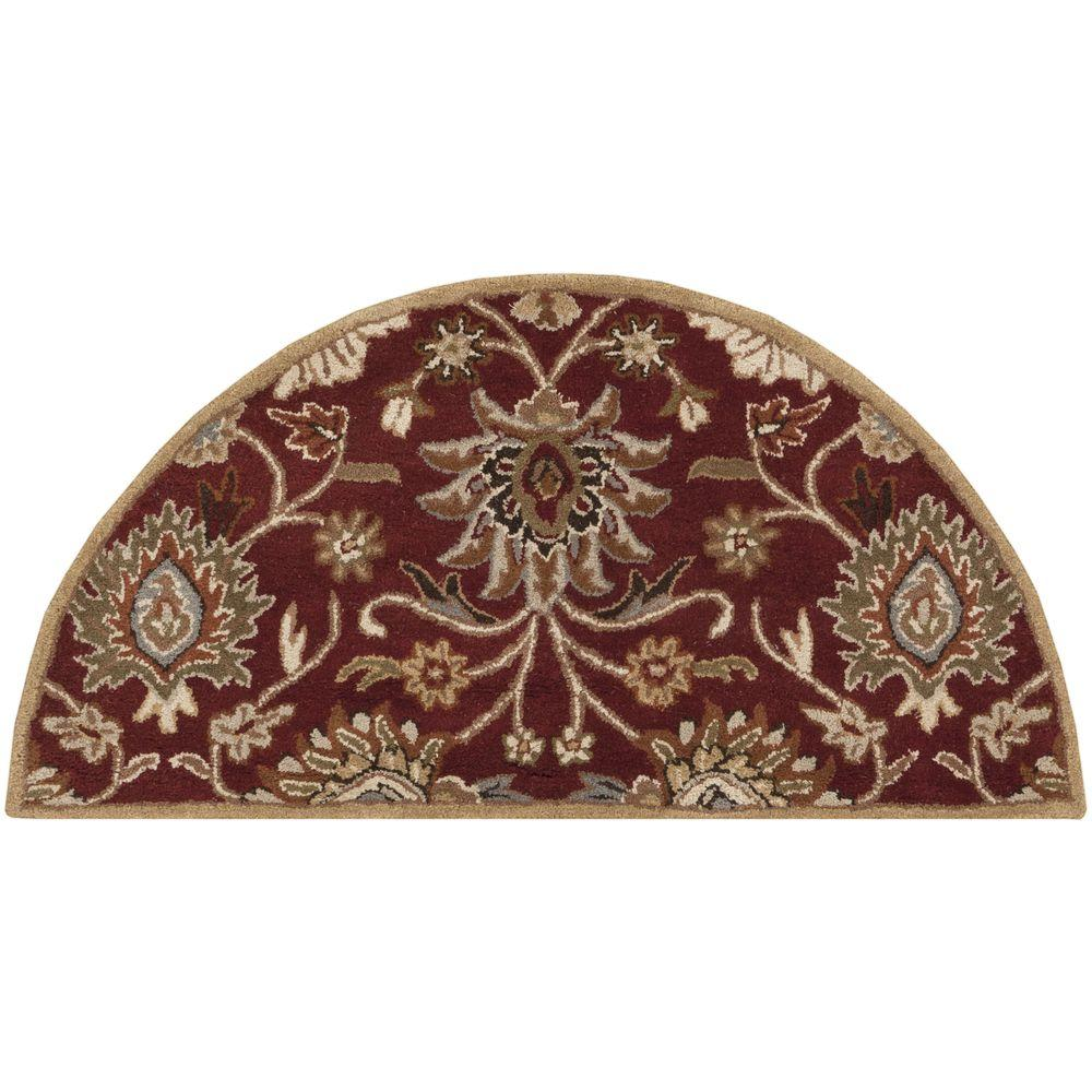 Artistic Weavers Cambrai Burgundy 2 ft. x 4 ft. Hearth Indoor Area Rug