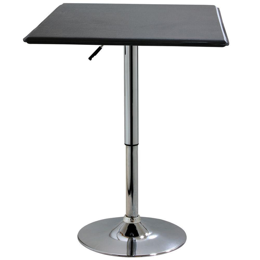 Black Adjustable Swivel Pub/Bar Table