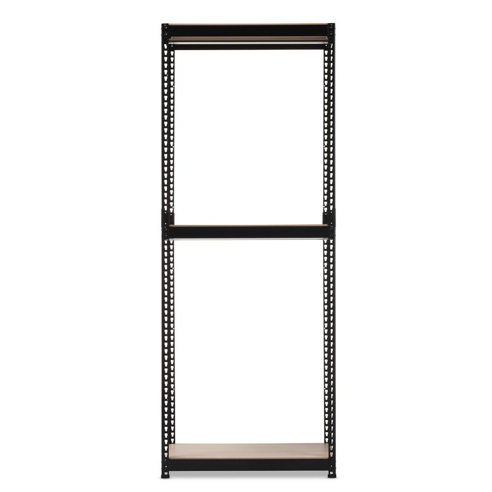Gavin Black Metal 3-Shelf Closet Storage Racking Organizer