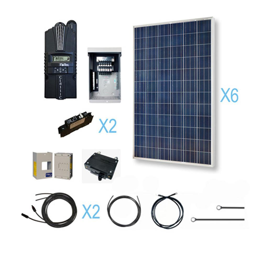 grape solar 100 watt off grid solar panel kit gs 100 kit