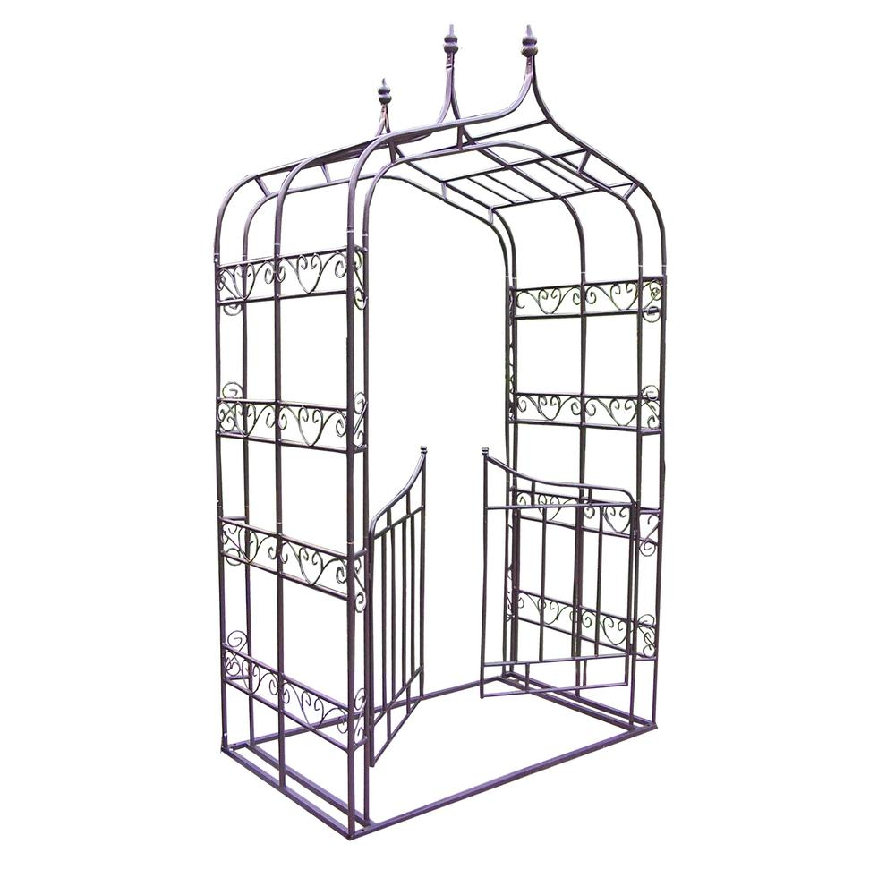 Gothic 103 in. x 53.5 in. Arbor with Gate