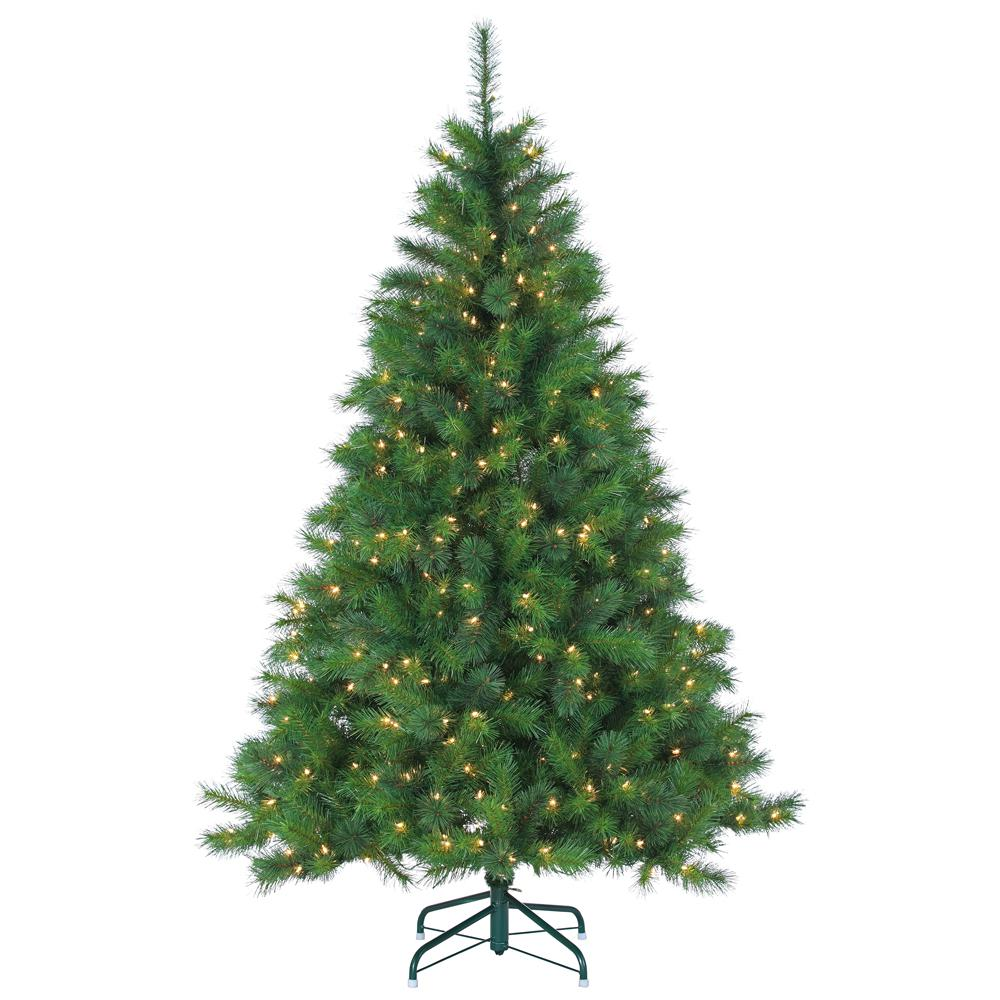 Sterling 6.5 ft. Pre-Lit Mixed Needle Wisconsin Spruce Artificial ...