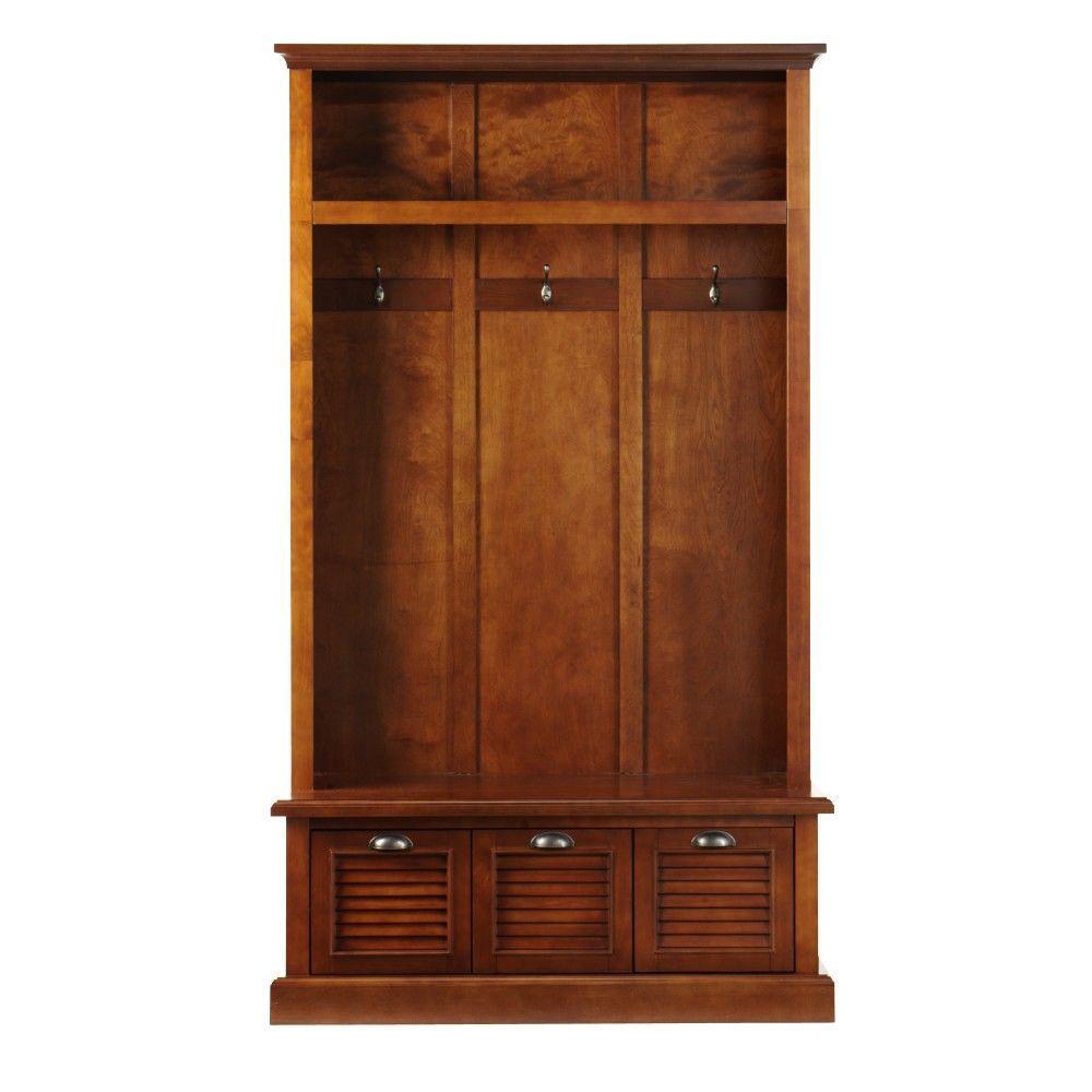 Home Decorators Collection Shutter Dark Cherry Hall Tree Deals