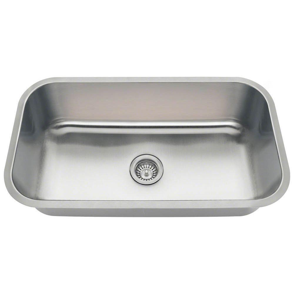 Undermount Kitchen Sinks Stainless Steel mr direct undermount stainless steel 32 in. single basin kitchen