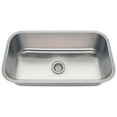 Polaris Sinks Undermount Stainless Steel 32 In Single Bowl Kitchen Sink Pc8123 The Home Depot