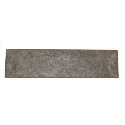 Continental Slate English Gray 3 in. x 12 in. Porcelain Bullnose Floor and Wall Tile