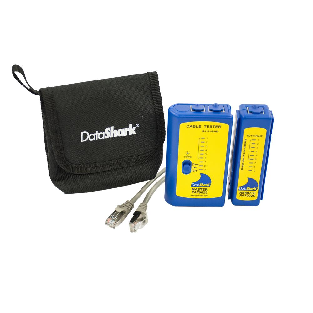 datashark rj45 network cable tester with case and patch cords