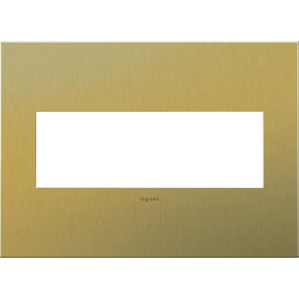 Legrand adorne 3-Gang 3 Modular Wall Plate, Brushed Brass-AWC3GBB4 ...