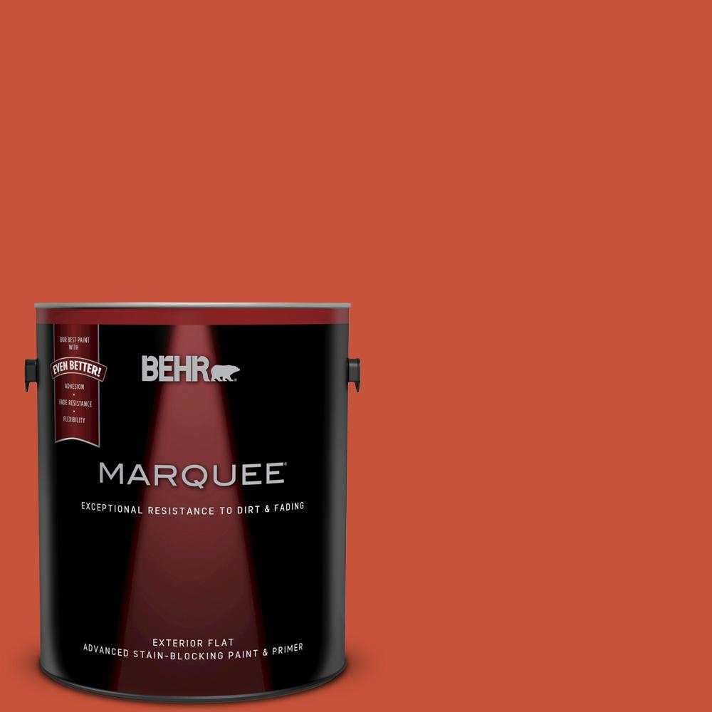 1-gal. #BIC-31 Fire Coral Flat Exterior Paint