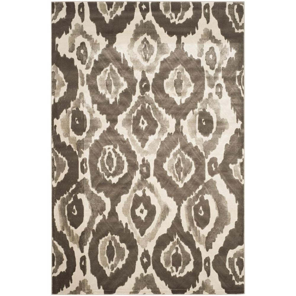 Porcello Ivory/Dark Grey 6 ft. x 9 ft. Area Rug