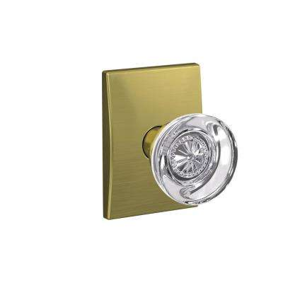 Custom Hobson Satin Brass Century Trim Combined Interior Glass Door Knob