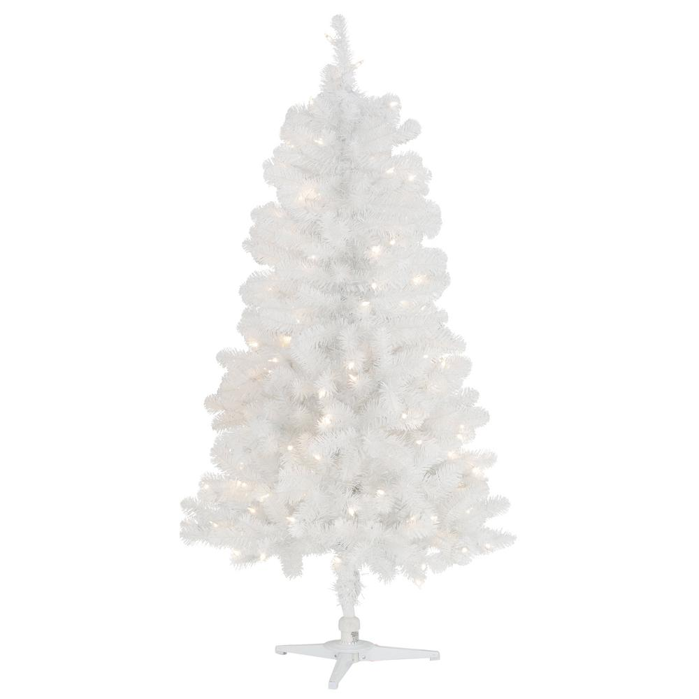 pre lit led glossy white north hill spruce artificial christmas