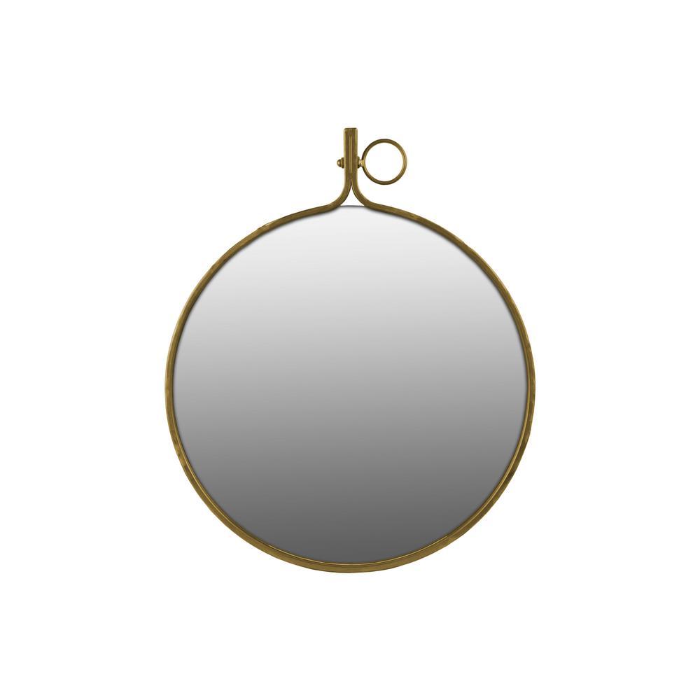 Round Gold Gloss Wall Mirror