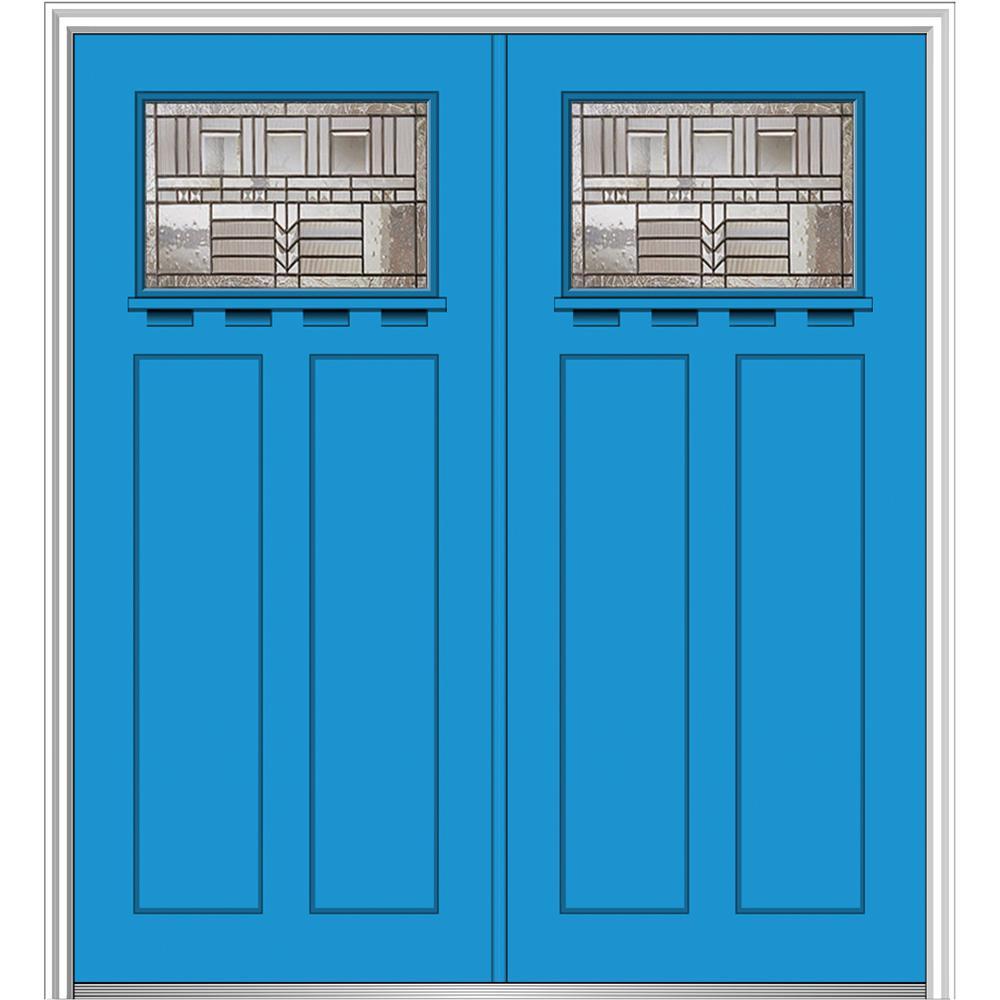 Craftsman Blue Front Doors Exterior Doors The Home Depot
