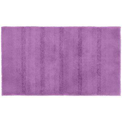 Essence Purple 24 in. x 40 in. Washable Bathroom Accent Rug