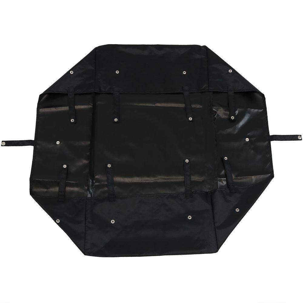 Black Vinyl Heavy-Duty Dumping Utility Cart Liner