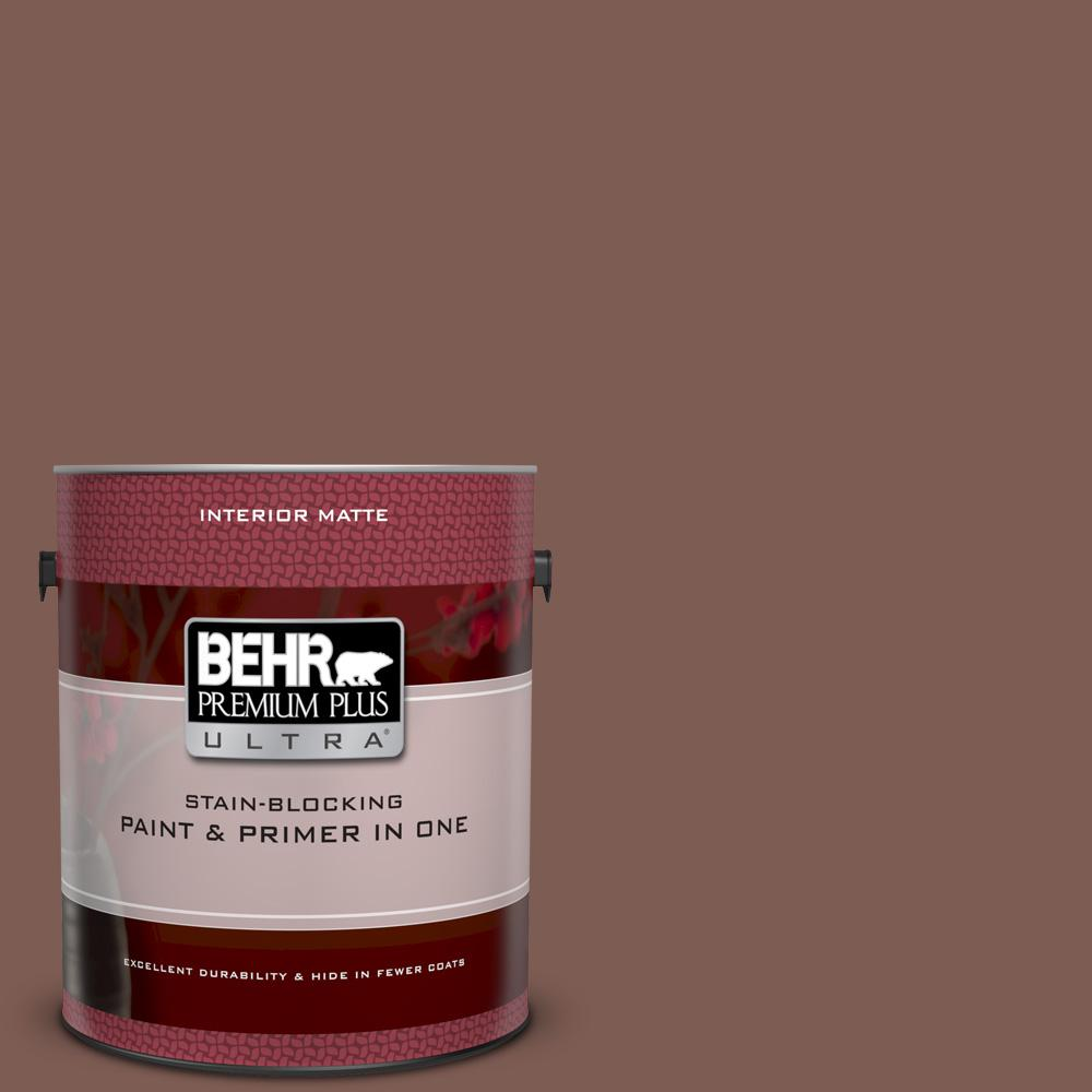 N160 6 Spanish Chestnut Matte Interior Paint And Primer In One