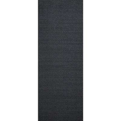 Hamam Collection Solid Black 22 in. W x Your Choice Length Roll Runner