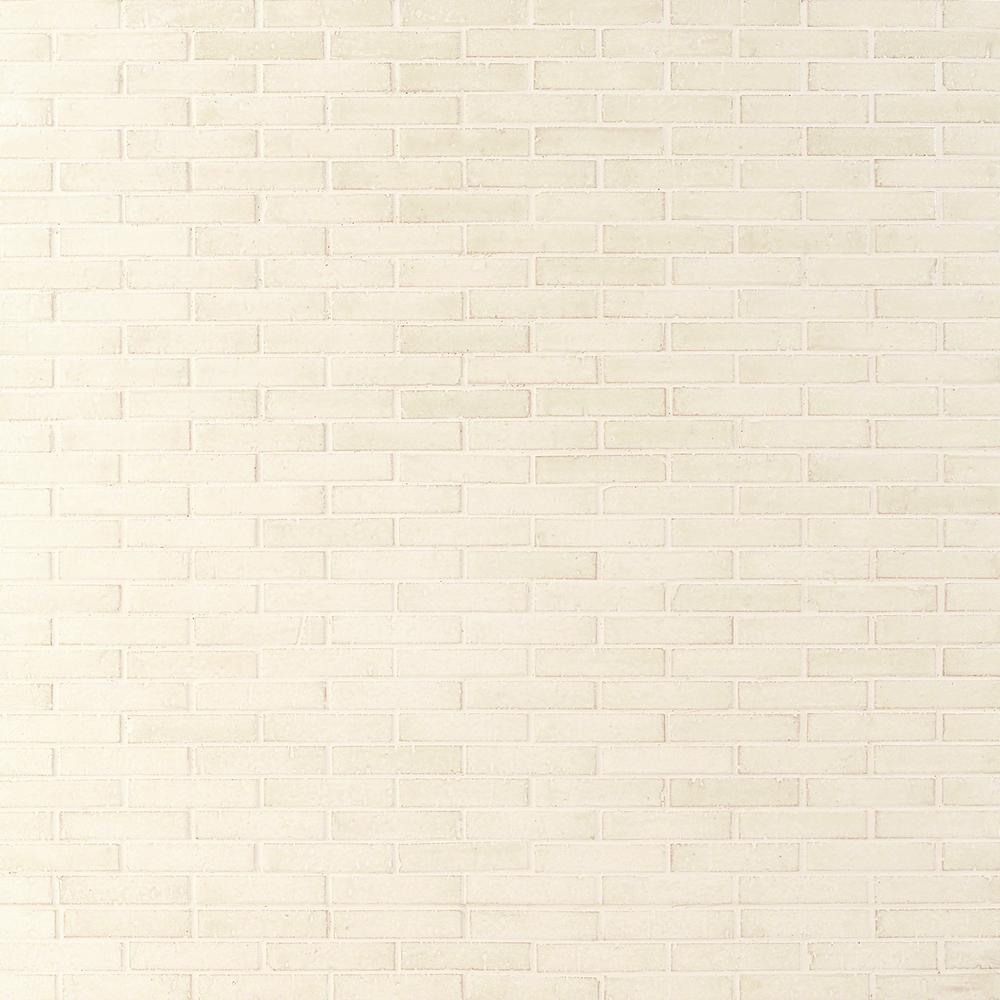Ivy Hill Tile Queen Brick Cream 10.6 in. x 12.75 in. 12mm Matte Clay Mosaic Wall Tile (0.94 sq. ft.)