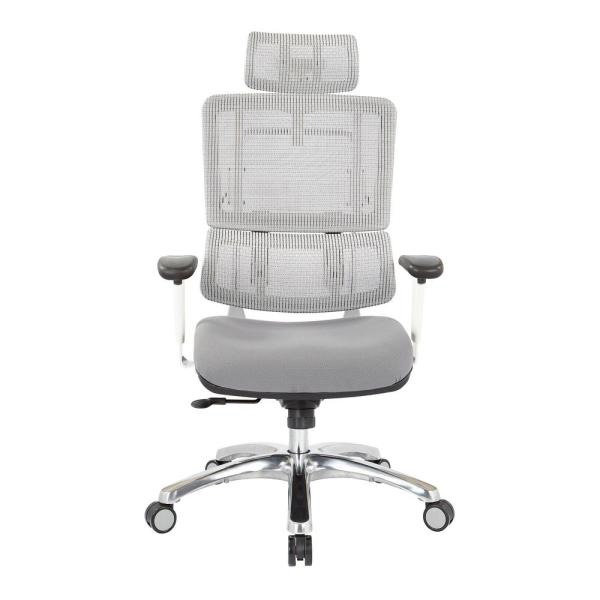 Office Star Products Breathable White Vertical Mesh Office Chair With Headrest 99661whrw 5811 The Home Depot