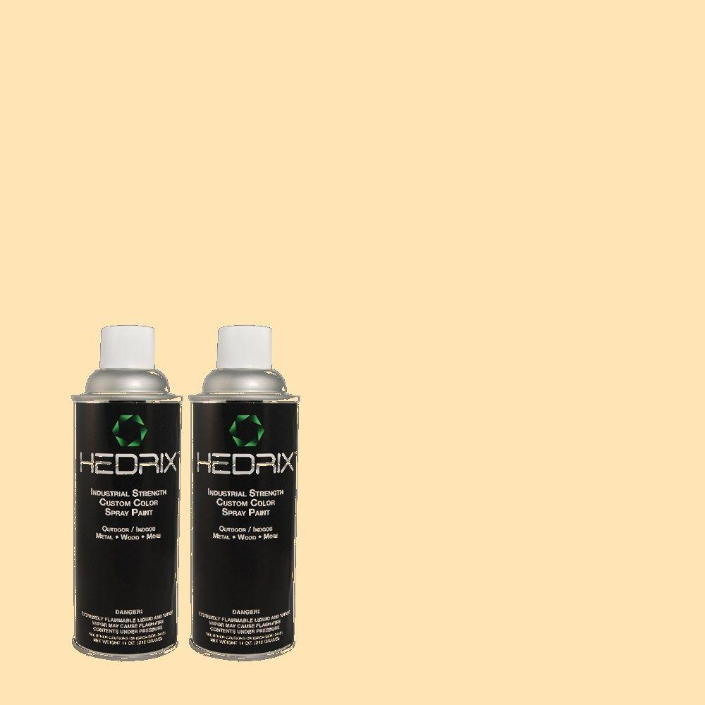 Hedrix 11 oz. Match of BHG-4 Potato Chips Flat Custom Spray Paint (2-Pack)