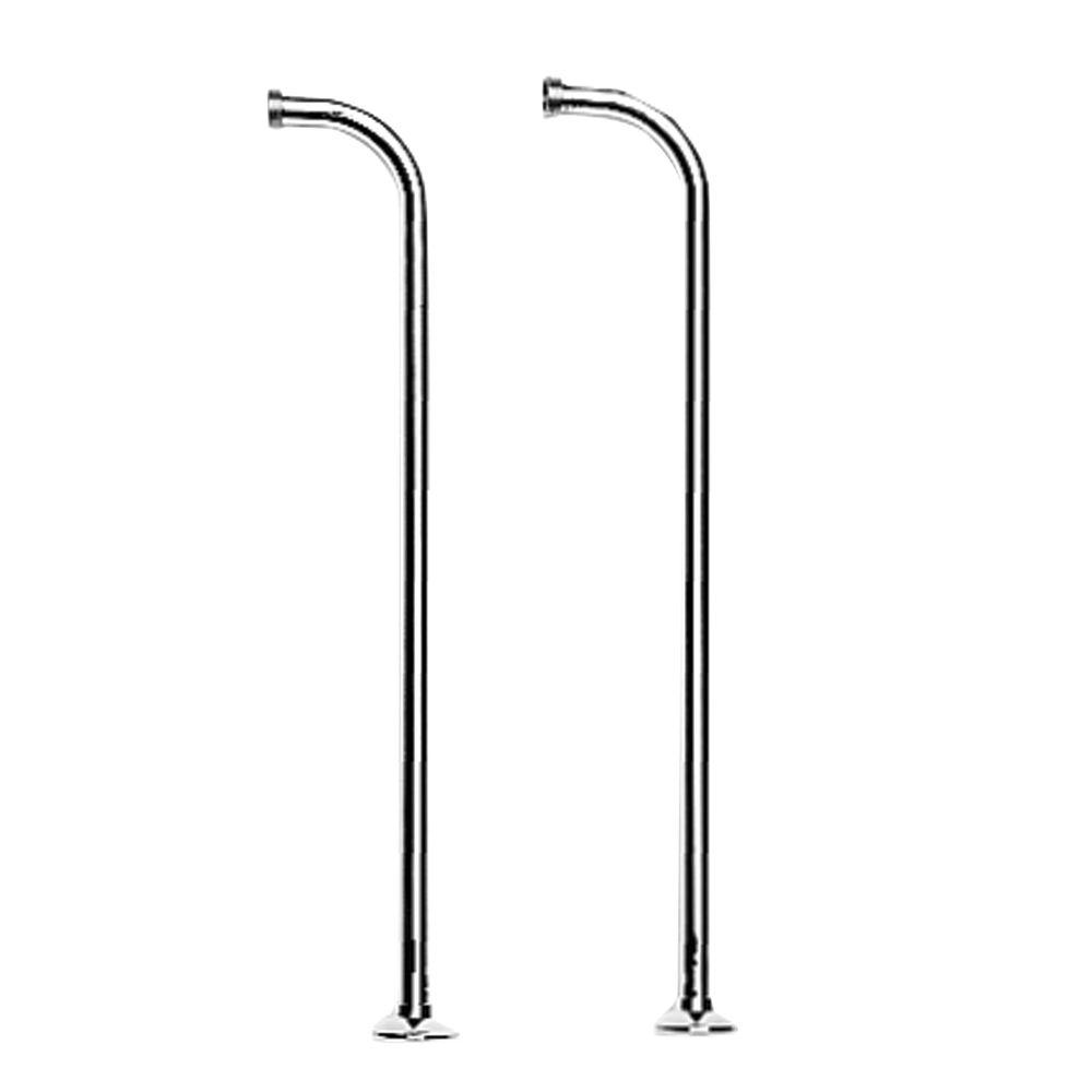Newport Fairfield Floor Riser for Claw Foot Tub Faucet with Hand Shower in Polished Chrome