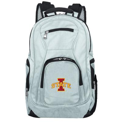 NCAA Iowa State Cyclones 19 in. Gray Laptop Backpack